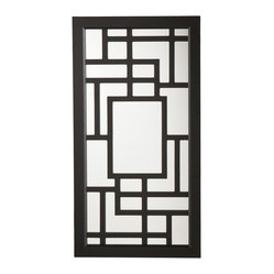 Scarlett Wall-Mount Jewelry Mirror, Black