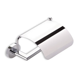 StilHaus - Toilet Roll Holder with Cover, Chrome - Toilet roll holder with cover made of brass in 2 available finishes. Toilet paper holder with cover made of brass. Available in 2 finishes. From StilHaus Diana Collection.