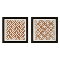 Paragon - Modern Symmetry I PK/2 - Framed Art - Each product is custom made upon order so there might be small variations from the picture displayed. No two pieces are exactly alike.