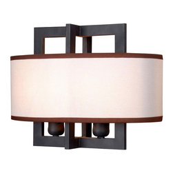 World Imports - Cathedral 2-Light Wall Sconce with Shade, Rust - 2 lights wall sconce