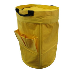 Yu Shan - Freestanding Laundry Duffle - Yellow - Extra Large Laundry Duffle with Handles, Straps and 2 Pockets for Detergents