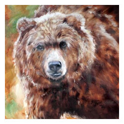 Westland - 15 Inch Grizzly Brown Bear Decorative Hanging Canvas Wall Art - This gorgeous 15 Inch Grizzly Brown Bear Decorative Hanging Canvas Wall Art has the finest details and highest quality you will find anywhere! 15 Inch Grizzly Brown Bear Decorative Hanging Canvas Wall Art is truly remarkable.