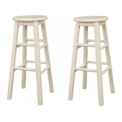 American Heritage - American Heritage Classic 29 Inch Barstool in White (Set of 2) - Its name says it all. This Classic stool not only looks great but has the versatility to use in every room of your house. What's included: Barstool (can only be purchased in sets of 2).