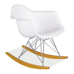 Eames Molded Plastic Armchair With Rocker Base - A classic yet modern Eames chair gets a nursery update when made into a rocking chair.