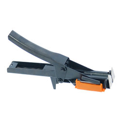 Zenport - Zenport ZJ77 HRF Binder/Twine Tier Stapler (MAX 3730) - The Zenport ZJ77 HRF hog ring stapler is used in conjunction with a poly vinyl flax string or tape. This stapler binds branches to your trellis with wire staples, or bind vines with the special binding twine ZEN stringline 200 (ZEN 3730 Stapler tool). The HR-F increases tying efficiency by 3 times. Simply wrap your tying material around what you want to tie and staple. A hog ring type staple binds the string together. Then slide the ends of your tying material through the cutter. Staples and blade are required for use with tool.