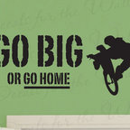 Decals for the Wall - Wall Decal Sticker Quote Vinyl Art Large Go Big or Go Home Boy's Sports Room S21 - This decal says ''Go big or go home''