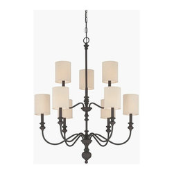 Jeremiah Lighting - Jeremiah Lighting-28529-GB-Willow Park - Nine Light 2-Tier Chandelier - *Shade Included.