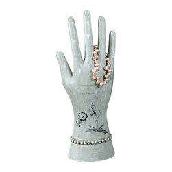 Decorated Jewelry Mannequin Hand - When it comes to organization, everyone could use a helping hand now and again. This decorated mannequin hand is here to help you keep your jewelry organized and easy to reach in plain sight. Perfect for rings, bracelets, and more, it's a sweet accent for any home.