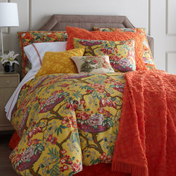 """Pine Cone Hill - Pine Cone Hill Queen Candlewick Dust Skirt - Vintage-look bed linens in playful colors include """"Spring Basket"""" floral linens, """"Candlewick"""" accessories, and """"Embroidered Hem"""" sheets. All of cotton by Pine Cone Hill®. Machine wash. Imported. """"Spring Basket"""" linens brim with bright color on a...."""