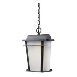 ELK Lighting - ELK Lighting 43007/1 Hampton Ridge 1 Light Outdoor Pendants/Chandeliers in Weath - This 1 light Outdoor Pendant from the Hampton Ridge collection by ELK will enhance your home with a perfect mix of form and function. The features include a Weathered Charcoal finish applied by experts. This item qualifies for free shipping!