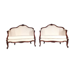 A pair Of Louis XV Styled Settee -