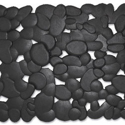 Stones Rubber Doormat - This rubber doormat mimics a river stone design in rubber. This gives it an organic feel coupled with the durability of rubber in with a modern take.