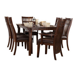Standard Furniture - Standard Furniture Artisan Loft 8-Piece Dining Room Set in Aged Bronze - The rustic yet refined character of arts and crafts styling is portrayed in the authentic craftsman elements found in artisan loft dining.
