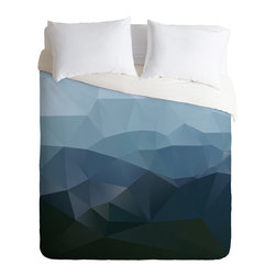 DENY Designs - Three Of The Possessed First Light Duvet Cover - Turn your basic, boring down comforter into the super stylish focal point of your bedroom. Our Luxe Duvet is made from a heavy-weight luxurious woven polyester with a 50% cotton/50% polyester cream bottom. It also includes a hidden zipper with interior corner ties to secure your comforter. it's comfy, fade-resistant, and custom printed for each and every customer.