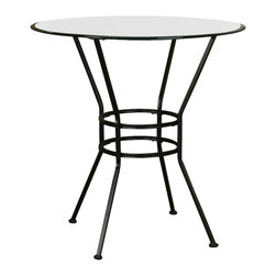 Cramco - Cramco Starling 36 inch Round Beveled Edge Glass Top Counter Height Table - Features: