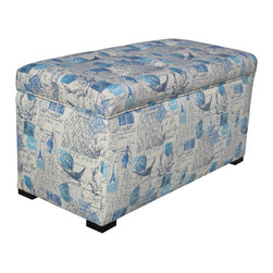Sole Designs - Angela Prime Artic Blue Storage Trunk - Give your home a new look with this fashionable Button tufted storage trunk This beautiful trunk  features fabric upholstery and an attractive finish.