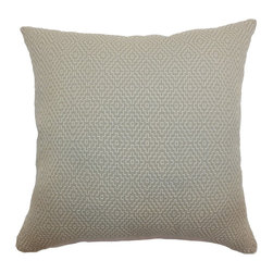 "The Pillow Collection - Gertrude Diamond Pillow Taupe - Unconventional and simple, this throw pillow adds flair to your home. Achieve that urban chic style in your space by propping this accent pillow on top of your furnishings. The square pillow comes with an interesting texture and geometric print pattern set against a taupe background. Made from 100% high-quality cotton fabric, this 18"" pillow is an ideal decor piece. Hidden zipper closure for easy cover removal.  Knife edge finish on all four sides.  Reversible pillow with the same fabric on the back side.  Spot cleaning suggested."