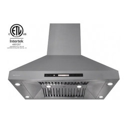 """XtremeAir - Pro-X Series PX07-I36 36"""" Island Ducted Range Hood With 900 CFM  4 Speeds Screen - Give your kitchen a sweet upgrade with this Island mount range hood from XtremeAir USA This stainless steel non-magnetic hood features 4 speeds screen touch electronic control with blue LED for easy operation The beautiful design of this hood feature..."""