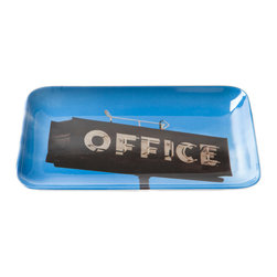 Bob's Your Uncle - Bob's Your Uncle Office Tray - The OfficeThrow some whimsy into your everyday life with the Office Tray from Bob's Your Uncle. This chic tray is made from durable melamine and has plenty of eclectic appeal. It features a photo of a vintage office sign. Use it to keep your work area or desk organized, or just let it add a quirky touch to your living area.Featuring photograph of a vintage office signPhotograph taken by company owner Martin Yeeles