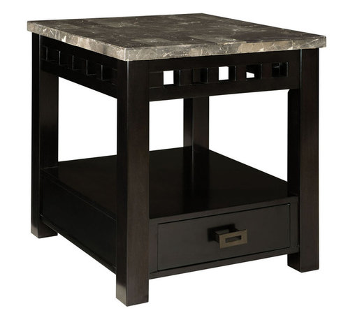 Standard Furniture - Standard Furniture Gateway Grey 1 Drawer End Table in Dark Chicory Brown - Impressive proportions and bold styling give Gateway Occasional Tables a dynamic contemporary personality.