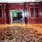 Custom inlay floor in Library -