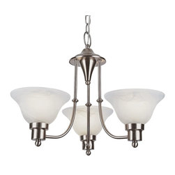Trans Globe Lighting - Trans Globe Lighting Payson Transitional Chandelier X-NB 4456-LP - With warm, inviting glow, this chandelier brightens up the room with alabaster glass shades. The Trans Globe Lighting Payson Transitional chandelier is a three-light chandelier with elegant sweeping frame. It provides an instant polished look to the room with weathered bronze or Brushed Nickel finish.
