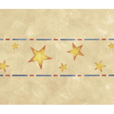 """Stencil Ease - Stars Home Decor Stencil - Stars Home Decor Stencil European Classic Stencil Contains: 1 - 6"""" x 18"""" Stencil Sheet Actual Size: 4 1/4"""" high x 11 1/2"""" repeat (10.80 cm x 29.21 cm) European Classic Stencils are simple one part stencils. Wonderful for the beginning stenciler using one color as well as the more experienced artisan. The design shown here was stenciled using a stippling technique on a Faux Finish background. This design was painted using the following Spill Proof stencil paint colors: SP-11 Bright RedSP-21 Golden Yellow SP-24 Navy Complete kit comes with stencils paints and 1 T1-68 double ended stencil brush."""