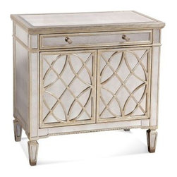 Bassett Mirror - Borghese Mirrored Door Chest - 8311-767 - Mirrored Door Chest