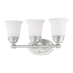 Thomas Lighting - Bella 3 Light Vanity - Thomas Lighting SL714378 Bella Brushed Nickel 3 Light Vanity