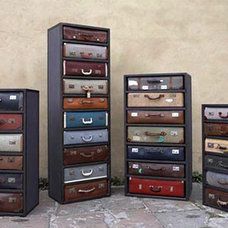 Dresser Drawer Sets Upcycled from Second-Hand Suitcases | Designs & Ideas on Dor