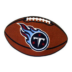Fanmats - NFL Tennessee Titans Football Shaped Accent Floor Rug - Features:
