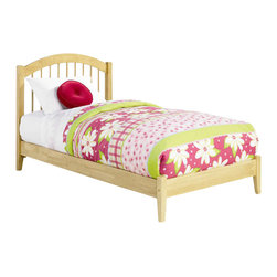Atlantic Furniture - Atlantic Furniture Windsor Platform Bed with Open Footrail in Natural Maple-Full - Atlantic Furniture - Beds - AP9431005 - The Atlantic Furniture Windsor Platform Bed brings a smooth, romantic glow to your bedroom. The solid Asian hardwood construction of this frame ensures many years of peaceful rest. So get the rest you deserve with the Windsor Platform Bed.