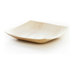 "Leafware - Leafware  9"" Square Plates (25 count) - Forget serving things on a silver platter. These plates are much more interesting, attractive and ecofriendly! They're made entirely from fallen palm tree leaves that are dried, sterilized and molded without any chemicals. Completely biodegradable, you can even use them for composting and are accepted at many commercial facilities."