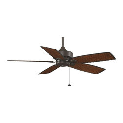 Fanimation - FP8012OB Cancun 5 Blade Ceiling Fan, Oil-Rubbed Bronze - Tropical Ceiling Fan in Oil-Rubbed Bronze from the Cancun Collection by Fanimation.