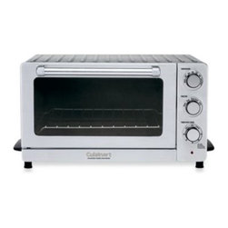 Cuisinart - Cuisinart Toaster Oven Broiler with Convection - This multi-functional countertop toaster oven broiler with convection brings a classic approach to modern cooking. It features attractive industrial styling, 4 cooking options, including convection bake, plus a convenient keep warm function.