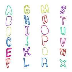 Trademark Global - Groooovy Bandzzzz 24-Pc Alphabet Shaped Rubbe - Includes retail packaging. Letters of the alphabet. Assorted colors and styles in each package. Vibrant colors. Used for ages five and up. Great for wearing, sharing and trading. Twenty four most popular shapes. Made from 100% non-toxic silicone. No assembly required. 4 in. L x 0.55 in. W x 5.25 in. HGet in on the hot new craze that's sweeping the nation…Groooovy Bandzzzz! Your child will love these whimsical rubber bands. Make your kid the most popular on the block and join in the fun with the most popular trend in the country, Groooovy Bandzzzz!