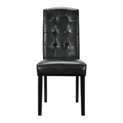 Modway Imports - Modway EEI-811-BLK Perdure Dining Side Chair In Black - Modway EEI-811-BLK Perdure Dining Side Chair In Black