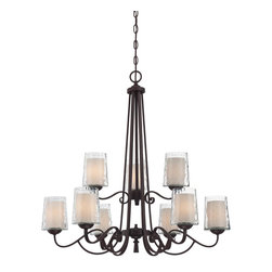 Quoizel Lighting - 9 Light Two Tier Up Light ChandelierAdonis Collection - A blend of traditional curves and transitional arches, this Adonis Nine Light Two Tier Up Light Chandelier features a modern elegance fit for the modern traditionalist.