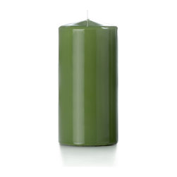 "Neo-Image Candlelight Ltd - Set of 6 - Yummi High Gloss Pillar Candles - 16 Colors, Green Tea, 3""x6"" - Our unscented 3""x6"" High Gloss Pillar Candles are ideal when creating a beautiful candlelight arrangement for the home or wedding decor.  Available in 7 trendy High Gloss candle colors hand over dipped with white core to match and compliment your home decor or wedding centerpiece decoration."