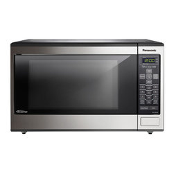 Panasonic - 1.2 Cu. Ft. 1200 Watt, Stainless Front and Silver Body, 5 Tactile - The Panasonic NN-SN643S 1.2 Cu. Ft. 1200W Genius Sensor Microwave Oven with Inverter Technology is perfect for the countertop or built-in installation. Unlike other microwave ovens, Inverter technology delivers a seamless stream of cooking power, even at lower settings, for precision cooking that preserves the flavor and texture of your favorite foods. With Inverter, you can poach, braise and even steam more delicate foods, all with the speed and convenience of a microwave! With the touch of our Genius Sensor cooking button, this microwave takes guesswork out of creating a great meal by automatically setting power levels and adjusting cooking or defrosting time. The sensor measures the amount of steam produced during cooking and signals the microprocessor to calculate the remaining cooking time at the appropriate power level. Plus with Turbo Defrost, you can thaw foods faster than ever!