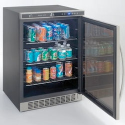 Avanti - 4.8 Cu. Ft. built-in refrigerator/beverage center, stainless steel frame w/ dual - Features:
