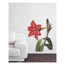 Design Your Wall - Amaryllis - Vintage Wall Decal - Flowers wilt, but this vintage-style Amaryllis decal will last forever!