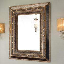 Gold Studded Bronze Mercury Mirror -