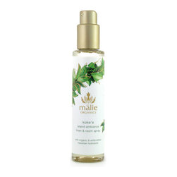 Malie Organics 'Koke'e' Organic Linen & Room Spray - A simple and instantaneous way to scent any room in your home, the office or even a hotel room. Enhance your given environment and let the experience embrace you. Infused with Hawaiian hydrosols, an organic spray brings the essence of paradise straight to you.Malie embodies the magnificence of Hawaii by distilling tropical flora and creating Hawaiian hydrosols, the truest essence of a flower and the heart of the linen and room spray. Spritz the air with the light mist to create an uplifting atmosphere or spray onto your linens before drifting into an island dreamland. Relax and indulge in the aroma of paradise with Malie Organics.Named in honor of Hawaii's oldest rainforest, Koke'e captures the fresh, lush green scent of the native maile vine. Divine and vibrant with life!1% of sale goes to the Koke'e Resource Conservation Program. Safe on all linens and skin. 70% of ingredients produced by certified-organic farming techniques. Brand: MALIE ORGANICS. Style Name: Malie Organics 'Koke'e' Organic Linen & Room Spray. Style Number: 648183.