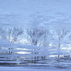 "Avalon Nature Photography - ICE REFLECTIONS II: Photography on Canvas, 30"" X 24"" X 1.5"" - ICE REFLECTION Ii. Modern Fine Art Photography"