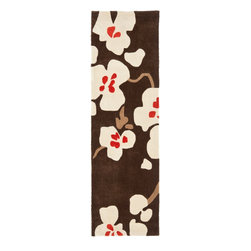 "Safavieh - Country & Floral Modern Art Hallway Runner 2'3""x8' Runner Brown - Ivory Area Rug - The Modern Art area rug Collection offers an affordable assortment of Country & Floral stylings. Modern Art features a blend of natural Brown - Ivory color. Hand Tufted of Polyester the Modern Art Collection is an intriguing compliment to any decor."