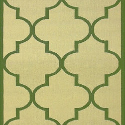 """Nu Loom - Indoor/Outdoor Traditional 5'3""""x7'9"""" Rectangle Green Area Rug - The Traditional area rug Collection offers an affordable assortment of Indoor/Outdoor stylings. Traditional features a blend of natural Green color. Machine Made of 100% Polypropylene the Traditional Collection is an intriguing compliment to any decor."""