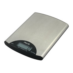 "American Weigh Scales - Digital Kitchen Scale Stainless Steel - Stainless Steel digital kitchen scale, displays g, oz, lb and ml, 11lb capacity, .002 graduation, LCD display (.7""x1.9""), platform size 5.5""x7.8"", 1-CR2032 Lithium battery included, Stainless Steel finish"