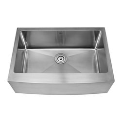 """Kraus - Kraus 30"""" Farmhouse Single Bowl Stainless Steel Sink Combo Set - Add an elegant touch to your kitchen with unique Kraus kitchen combo"""