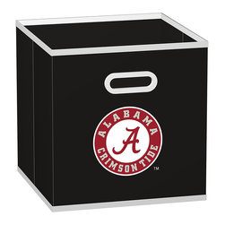 MyOwnersBox - Alabama Crimson Tide Store-Its Drawer - Organize memorabilia and favorite team jerseys with this durable storage drawer that has a convenient handle and fits perfectly into Cube-Its Organizers.   10.3'' W x 11'' H x 10.3'' D 100% non-woven polypropylene Spot clean Imported